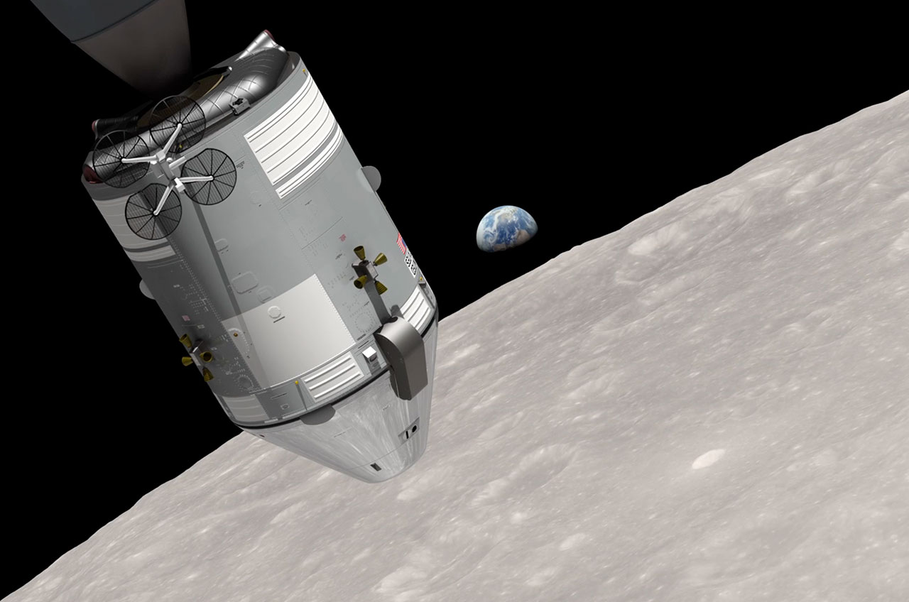 Famous 1968 'Earthrise' Photo Recreated 45 Years Later