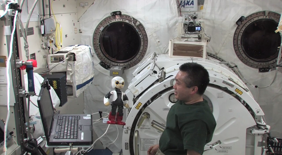 Talking Japanese Robot Has First Chat with Astronaut in Space