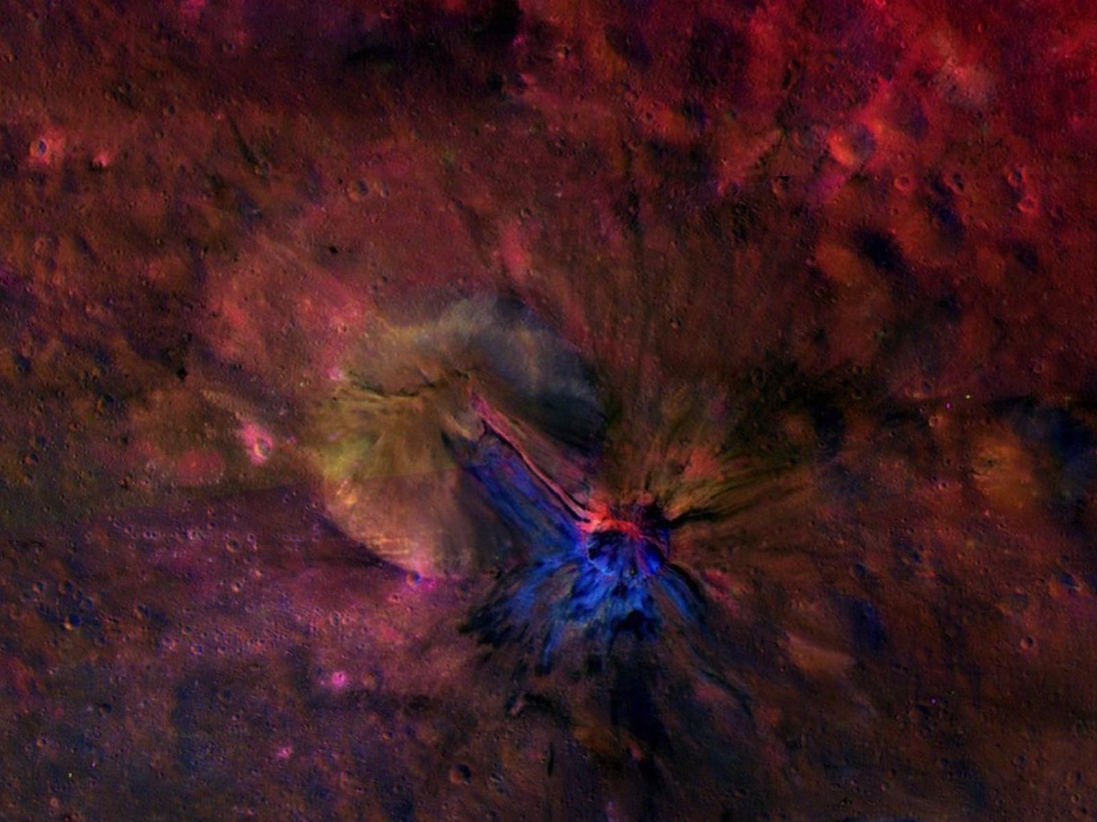 Vesta's Crater Aelia Composite