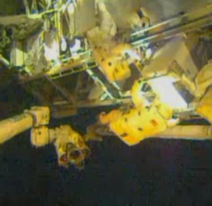 Astronauts Remove Pump from Space Station