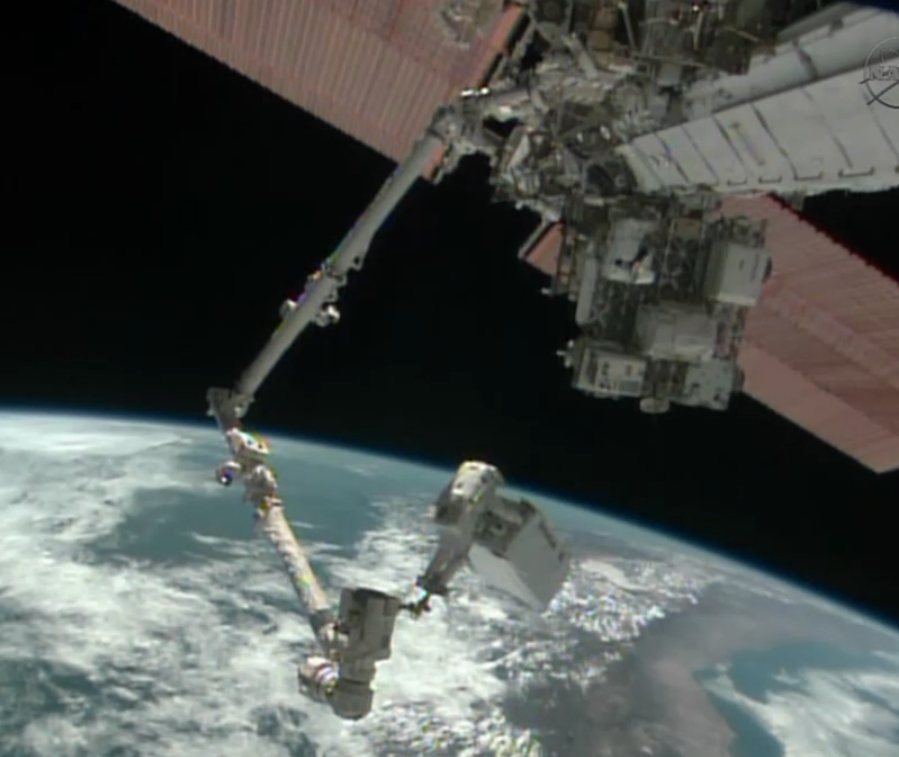 Spacewalking Astronauts Gift Space Station with Christmas Eve Cooling Pump Fix