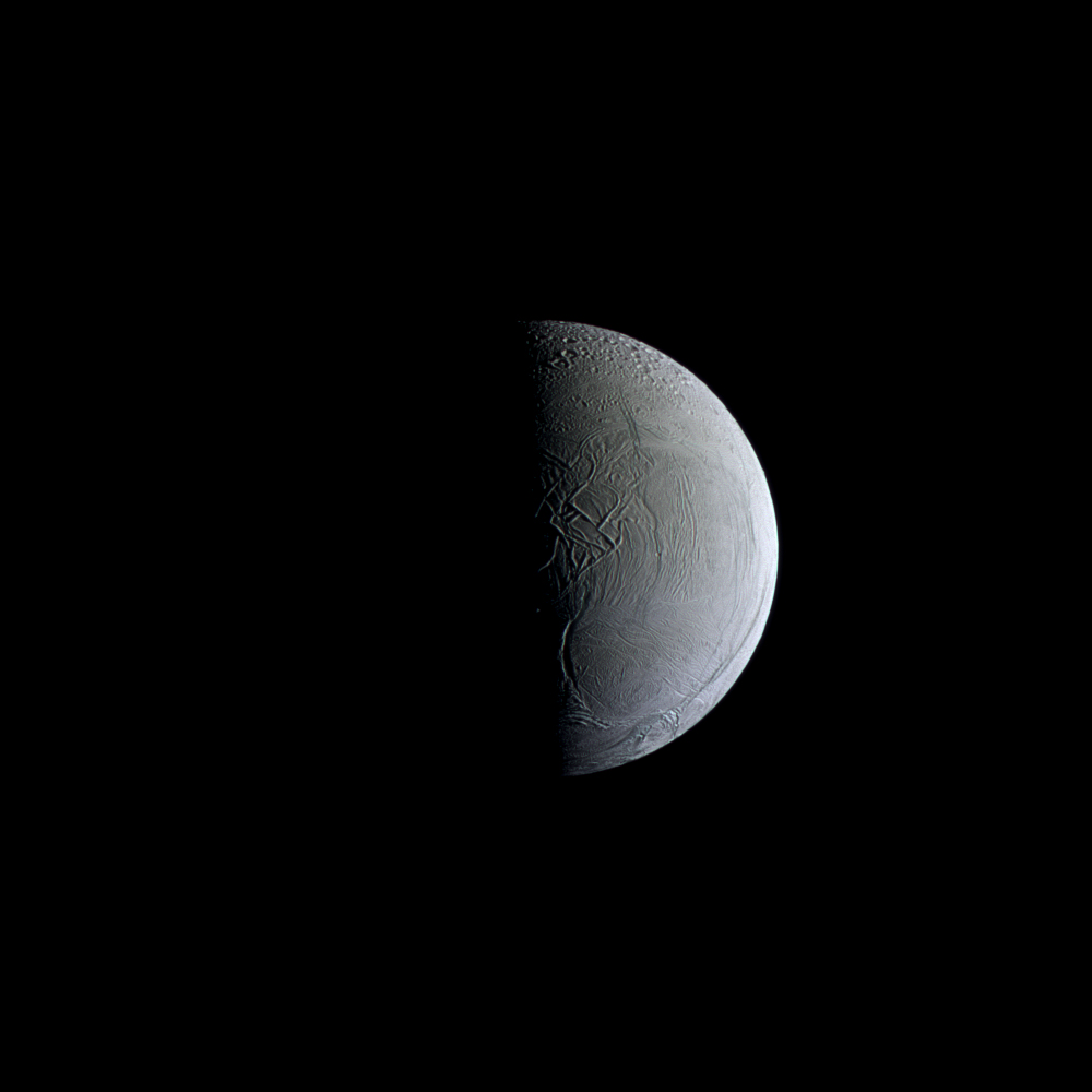 Frozen in Time: Saturn's Enceladus