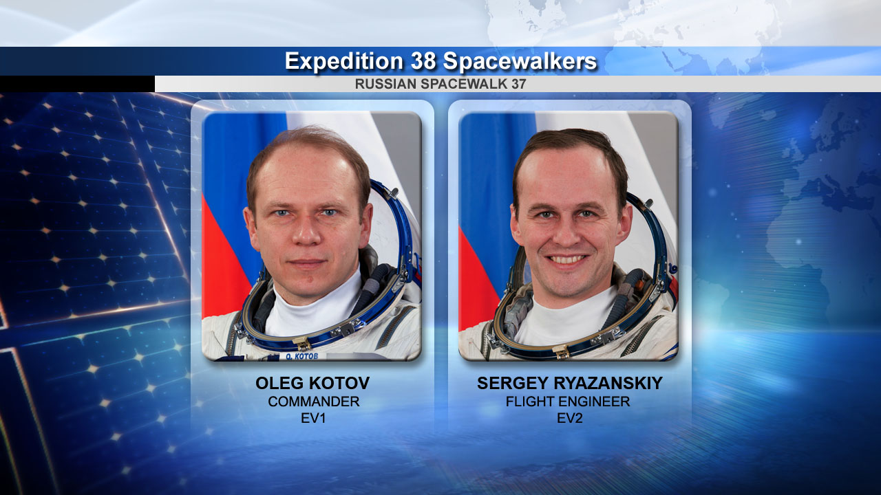Cosmonaut Spacewalkers for Dec. 27, 2013