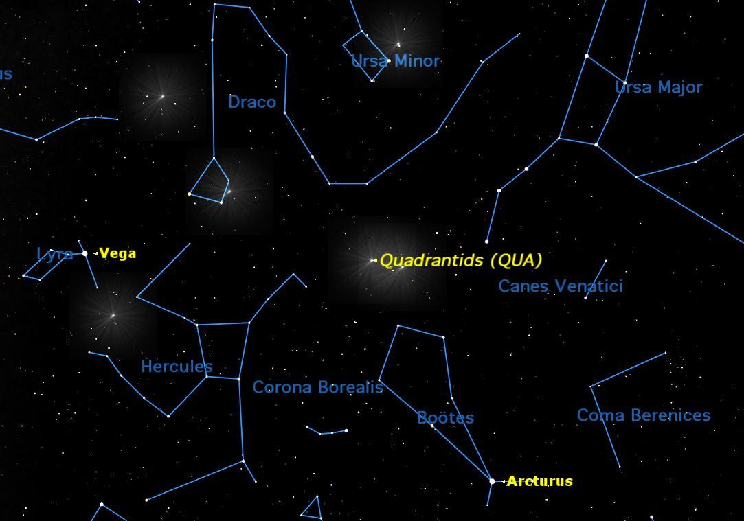 Quadrantid Meteor Shower, January 2014