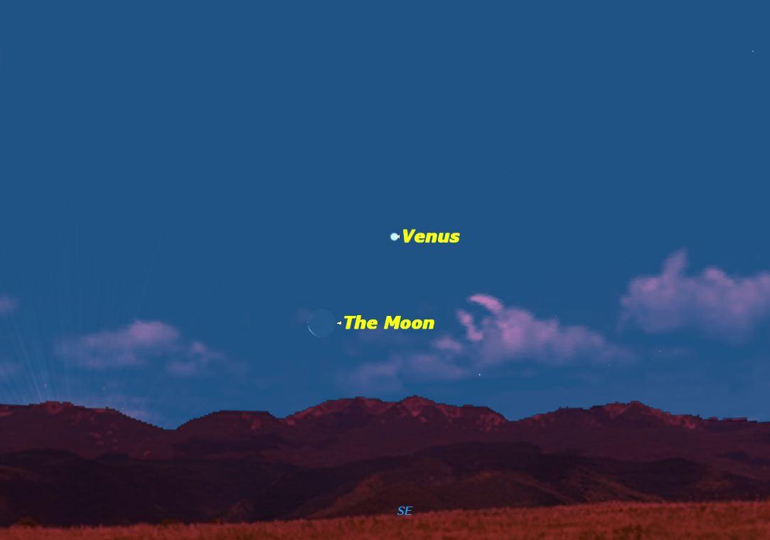 The Moon Close to Venus, January 2014