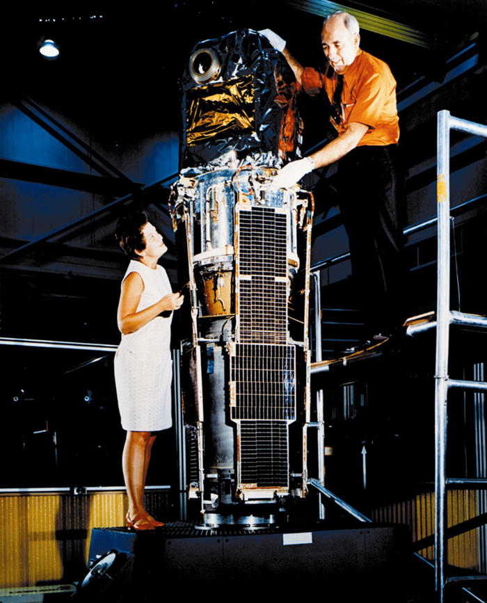 Space History Photo: Marjorie Townsend and SAS-1