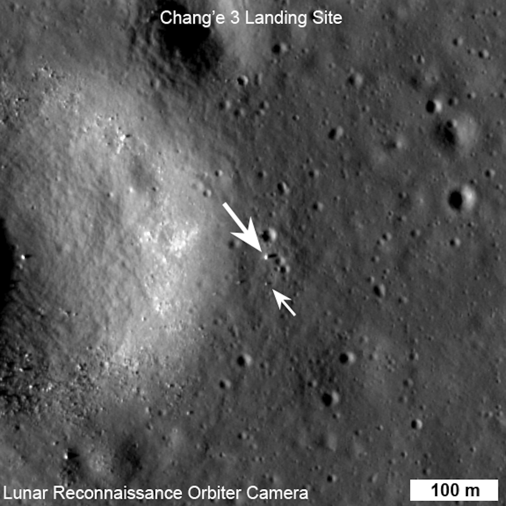 China's Moon Rover and Lander Spotted by NASA Spacecraft (Photos)