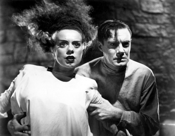 The Bride of Frankenstein, starring Elsa Lanchester and Colin Clive, was the popular cinematic sequel to Mary Shelley's cautionary 19th century tale.