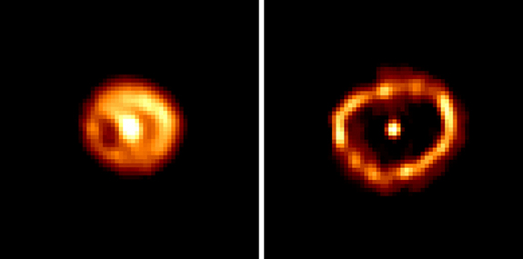 Hubble Space Telescope revealed a ring of debris from Nova Cygni 1992 F.