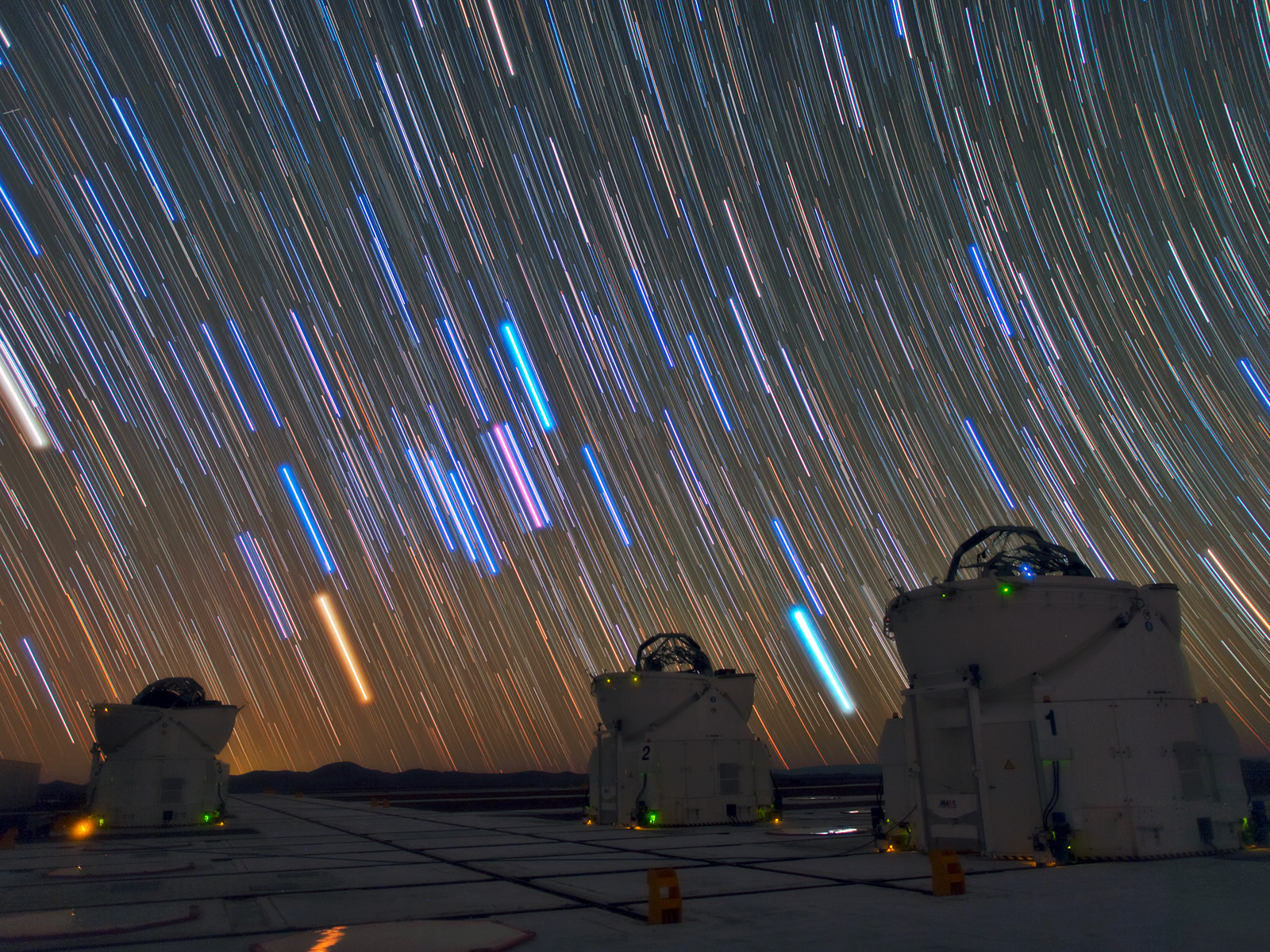 Star Trails Over Paranal Observatory