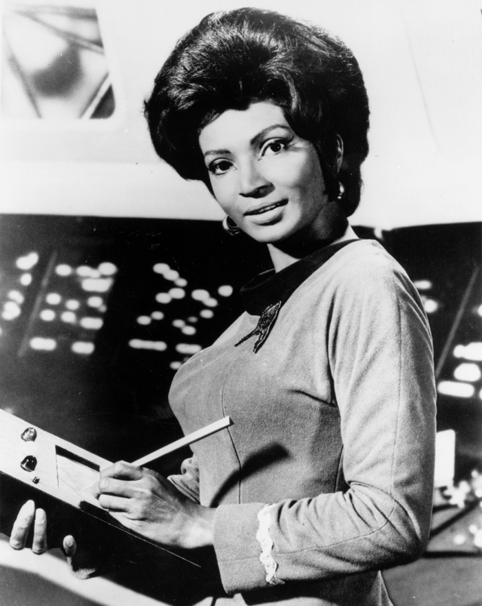 Space History Photo: Nichelle Nichols, NASA Recruiter