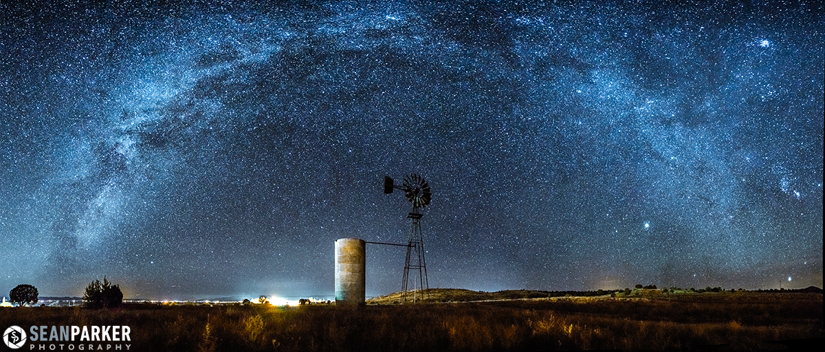 Milky Way Sparkles Over Windmill in Amazing Panoramic Photo