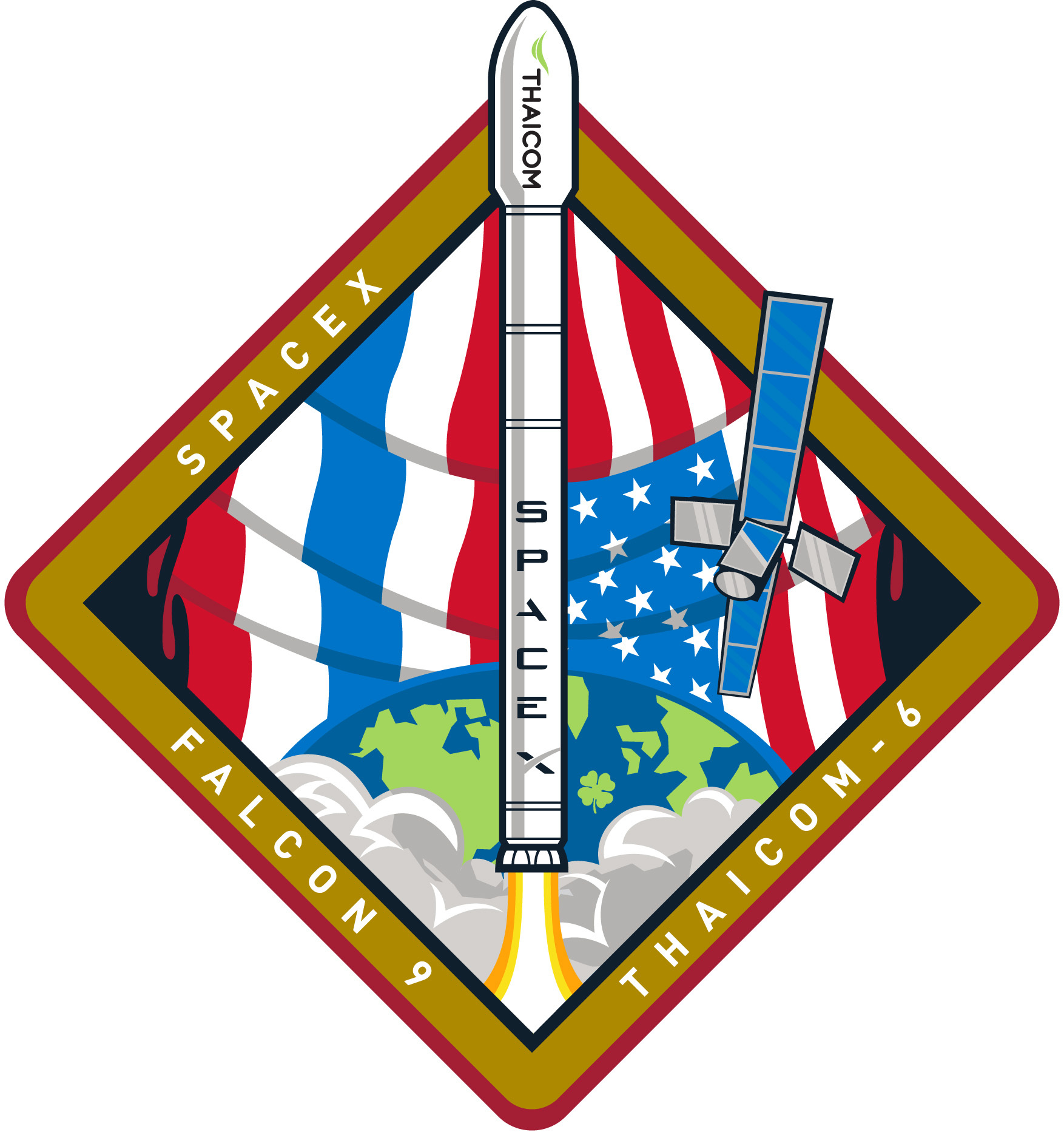 SpaceX's Falcon 9 Thaicom 6 Mission Patch
