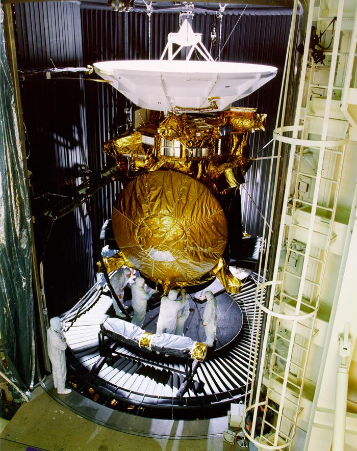 Space History Photo: Cassini Saturn Probe Undergoes Preflight Testing