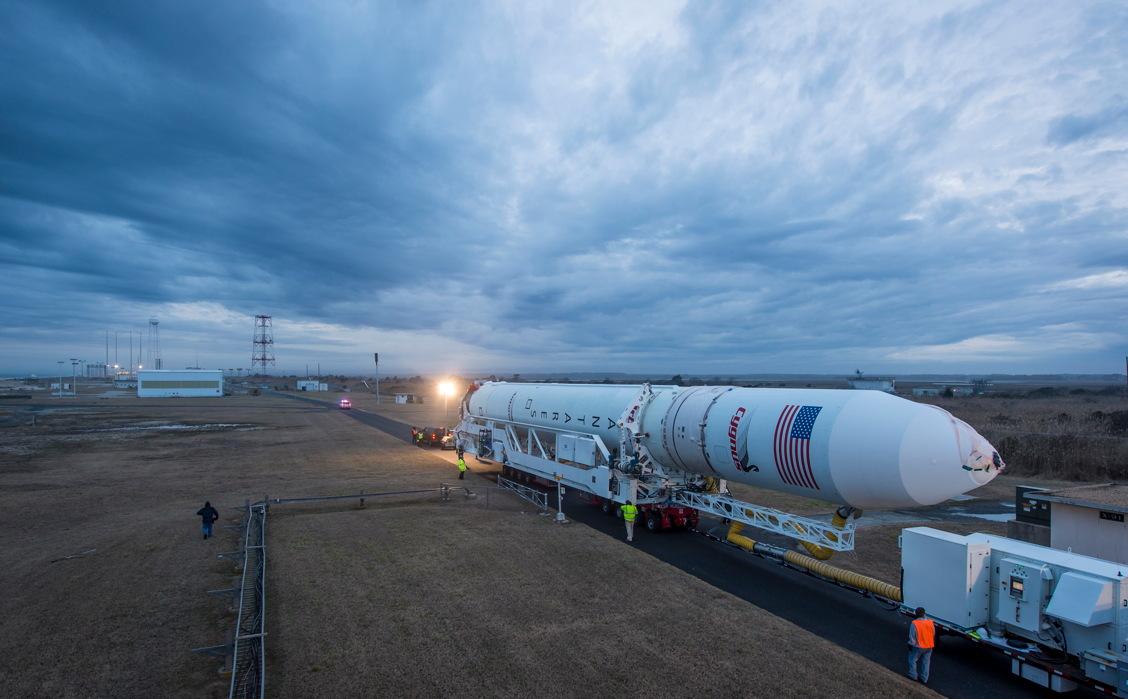 Antares Rocket Rollout Jan. 5, 2014