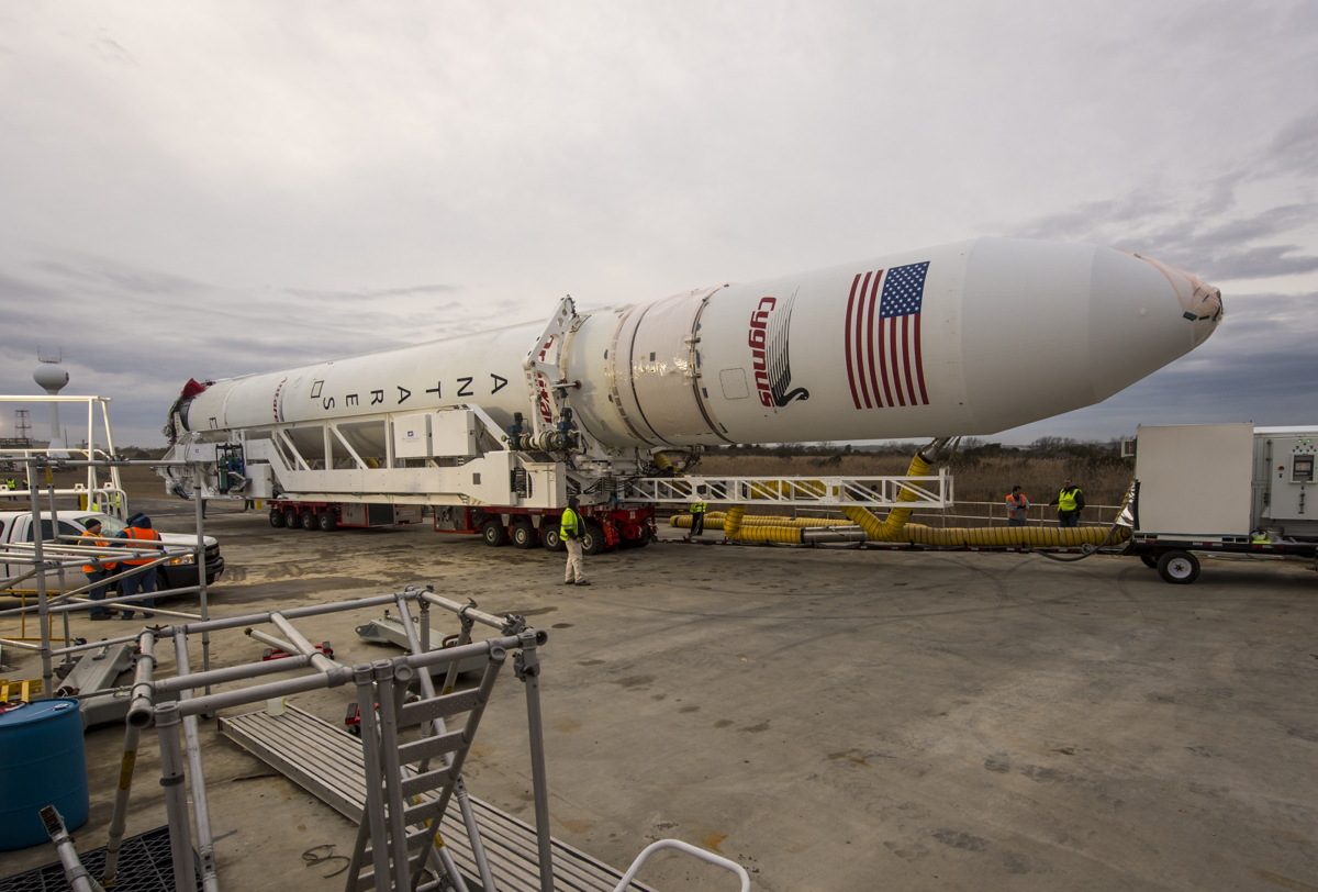 Antares Rocket Rolls Out at NASA's Wallops Flight Facility