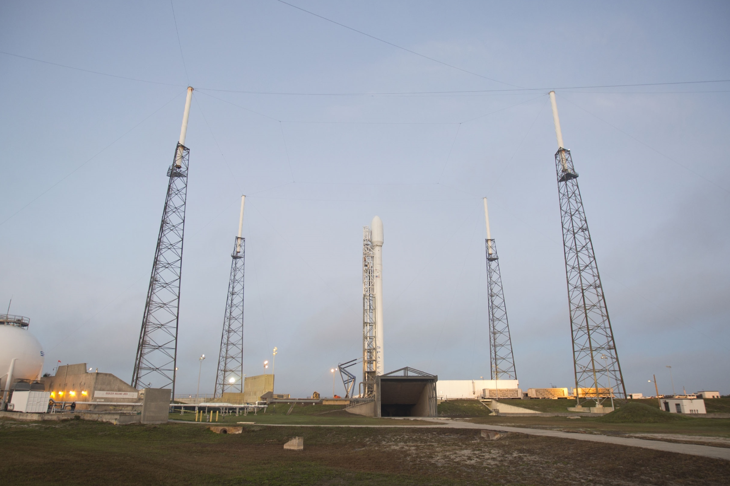 SpaceX Falcon 9 Rocket with Thaicom 6