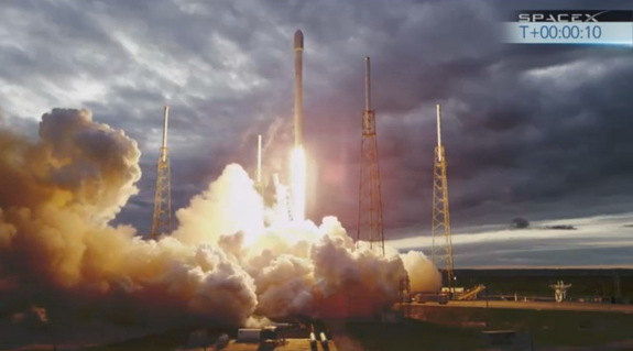 SpaceX's Falcon 9 rocket launched the Thaicom 6 communications satellite from Cape Canaveral, Fla., on Jan. 6, 2014.