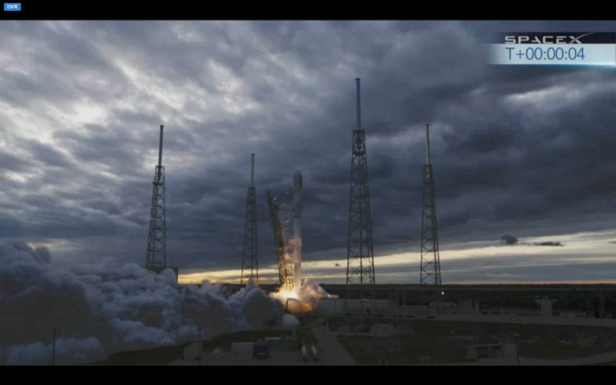 SpaceX Falcon 9 Launch of THAICOM 6 Satellite Begins