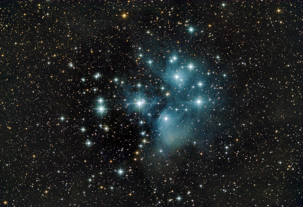 Pleiades Star Cluster Sparkles in Amazing Stargazer Photo