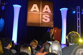 Neil deGrasse Tyson speaks at the 223rd meeting of the American Astronomical Society in Washington, DC, on Jan. 6, 2013.