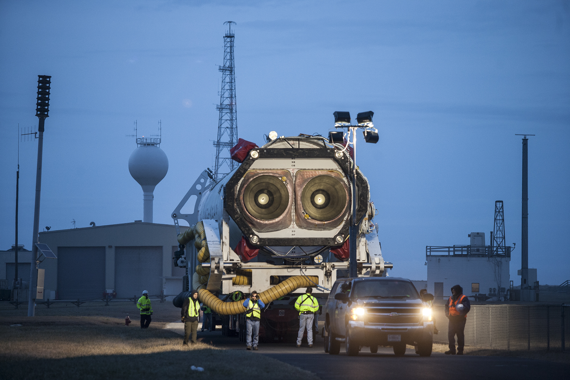 Orb-1 Antares Rocket Roll Out