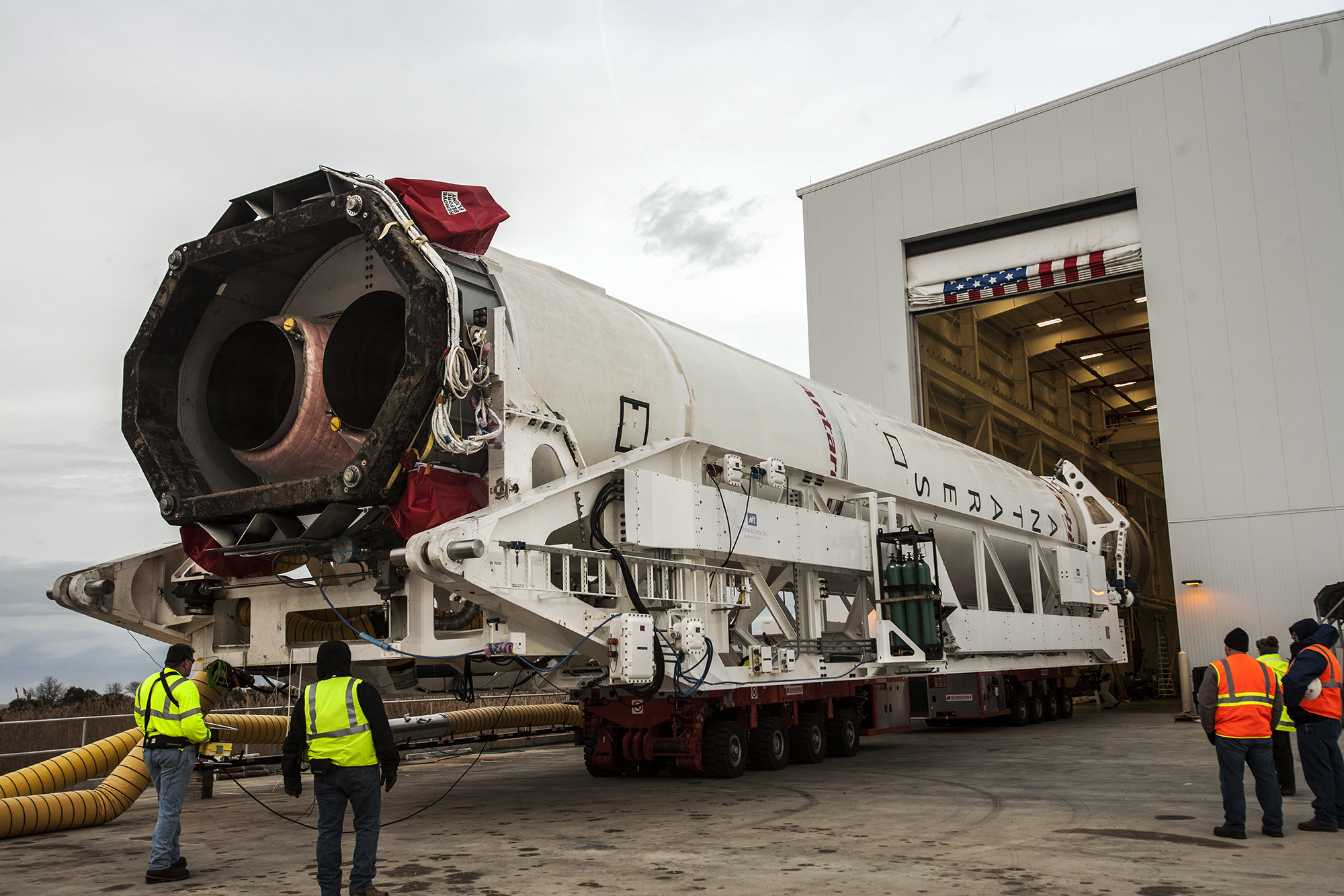 Antares Rolls Out for Orbital-1 Mission