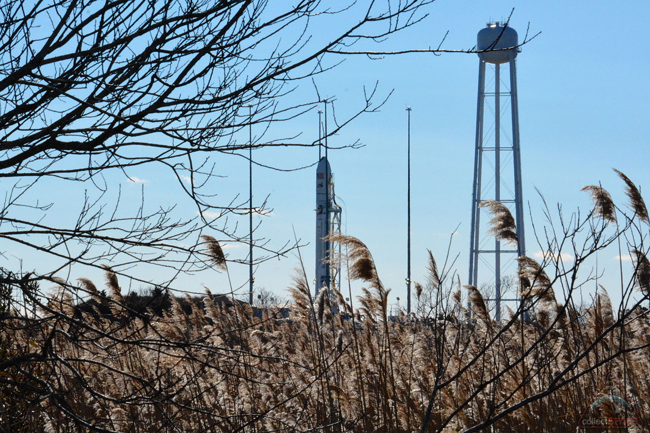 Orbital Sciences' Antares Rocket in Freezing Cold