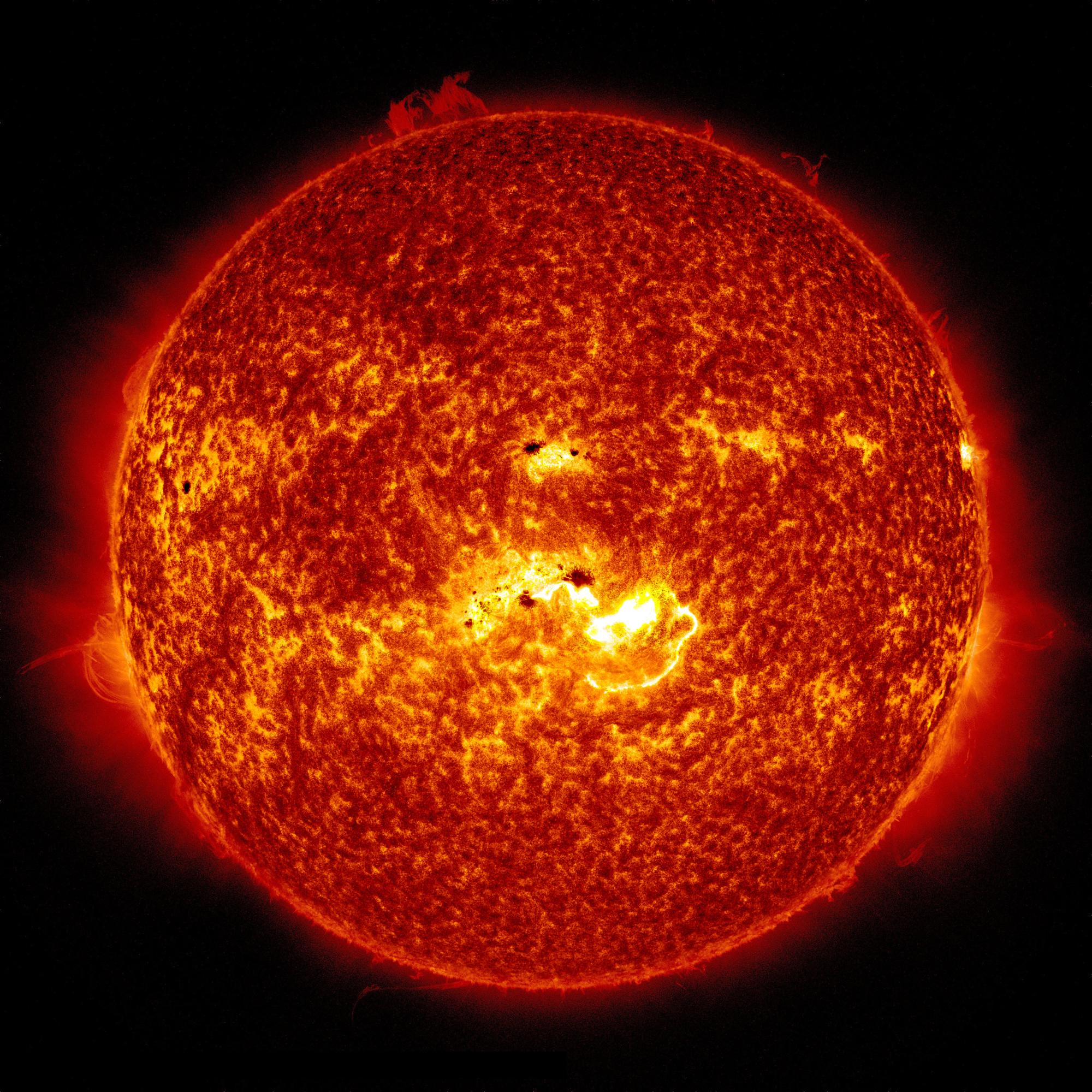 X1.2 Solar Flare Full Sun: Jan. 7, 2014