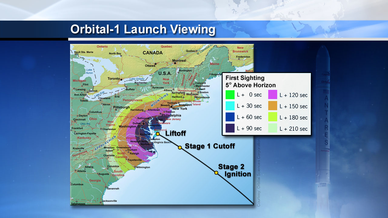 Antares Rocket Launch Visibility: Jan. 8, 2014
