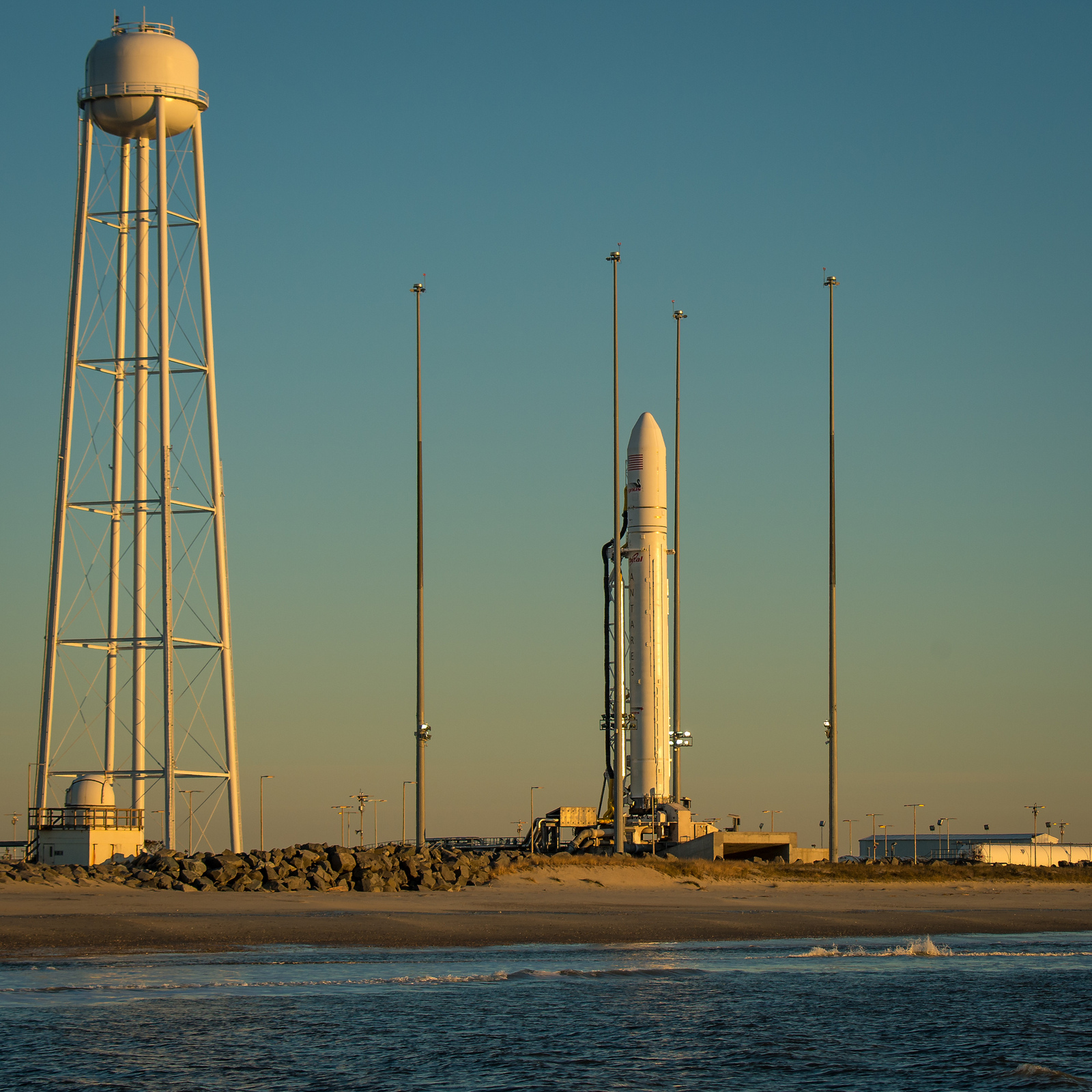 Antares Rocket Launch Pad Sunrise