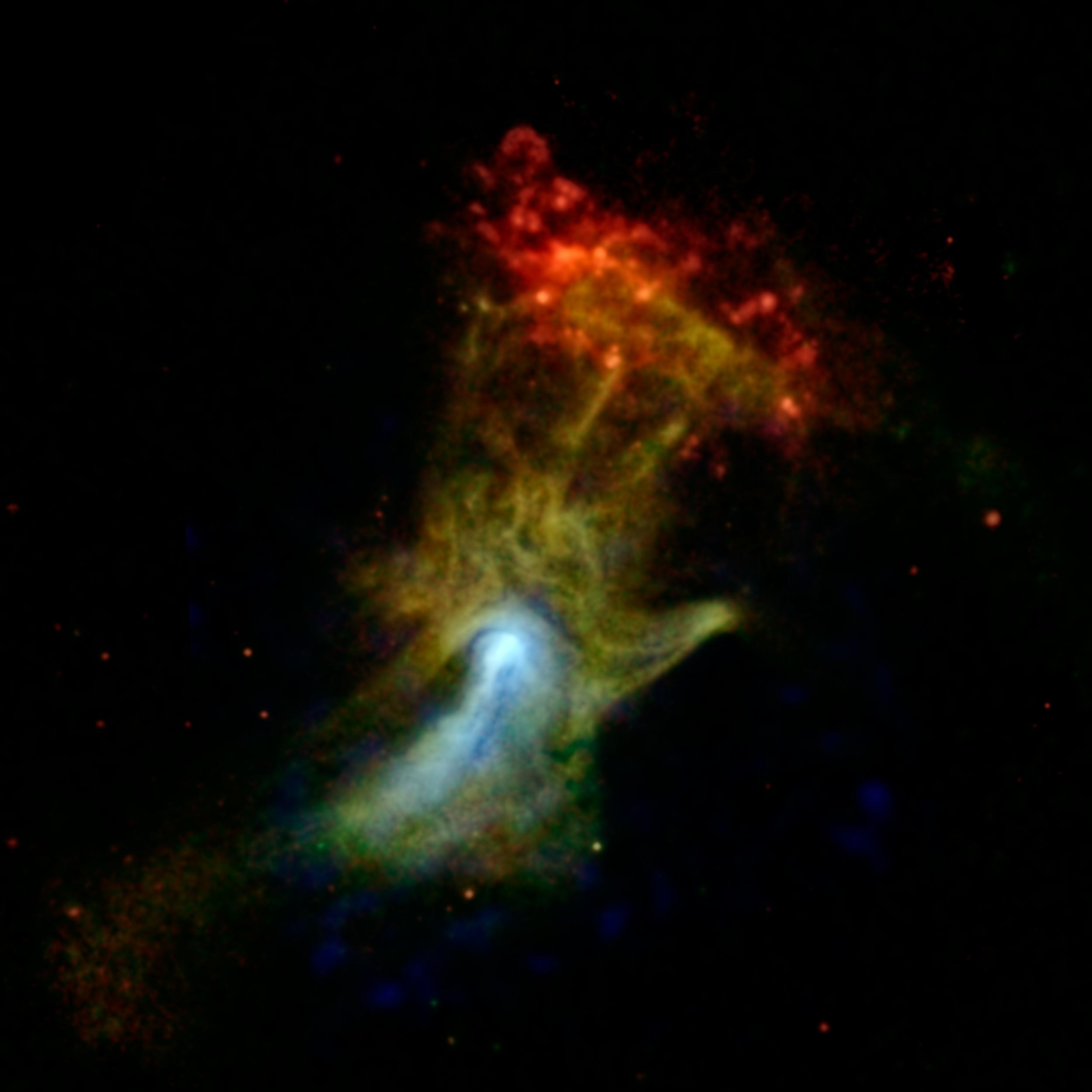NASA Space Telescope Sees 'Hand of God'