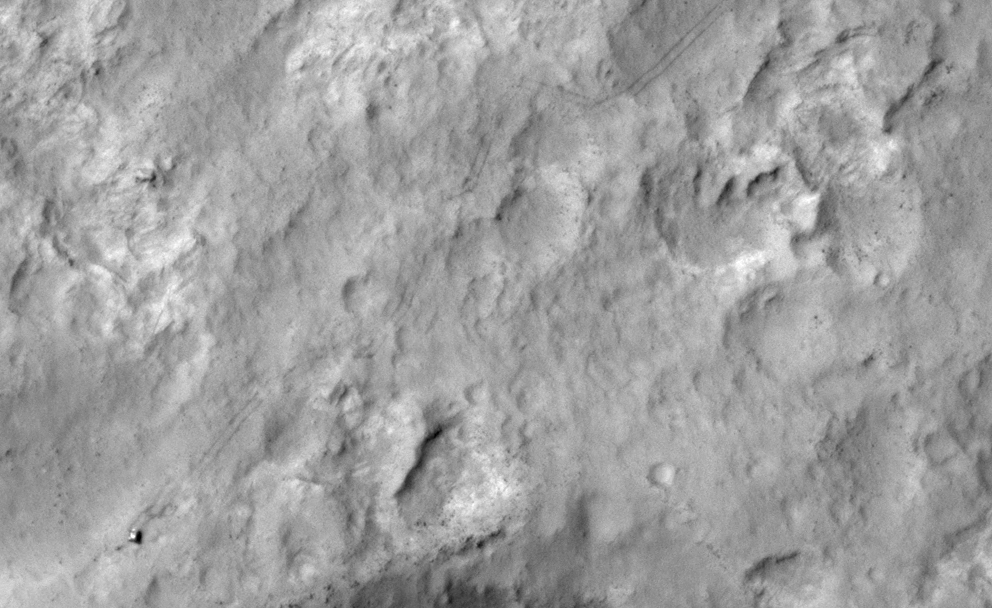 Mars Rover Curiosity Spotted from Space (Photos)