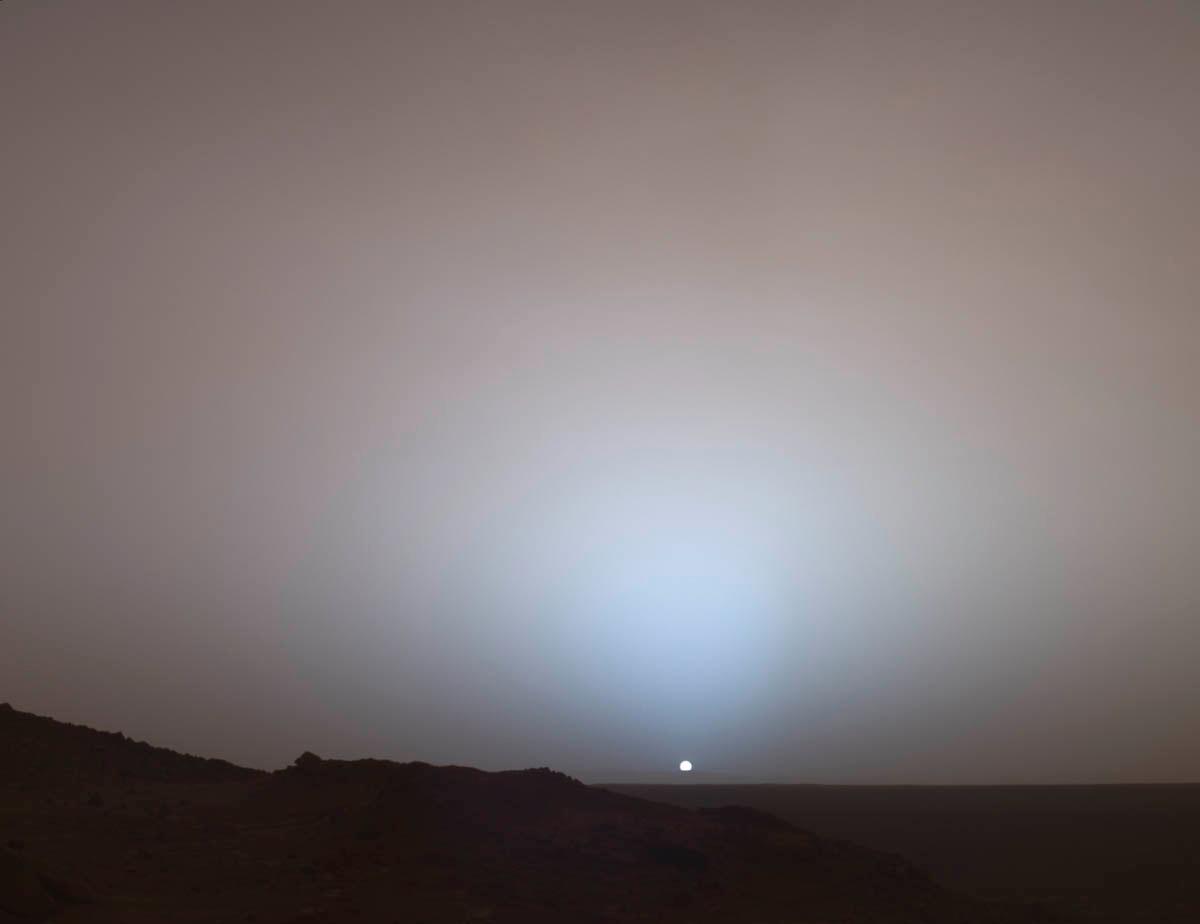 Setting Sun on Mars