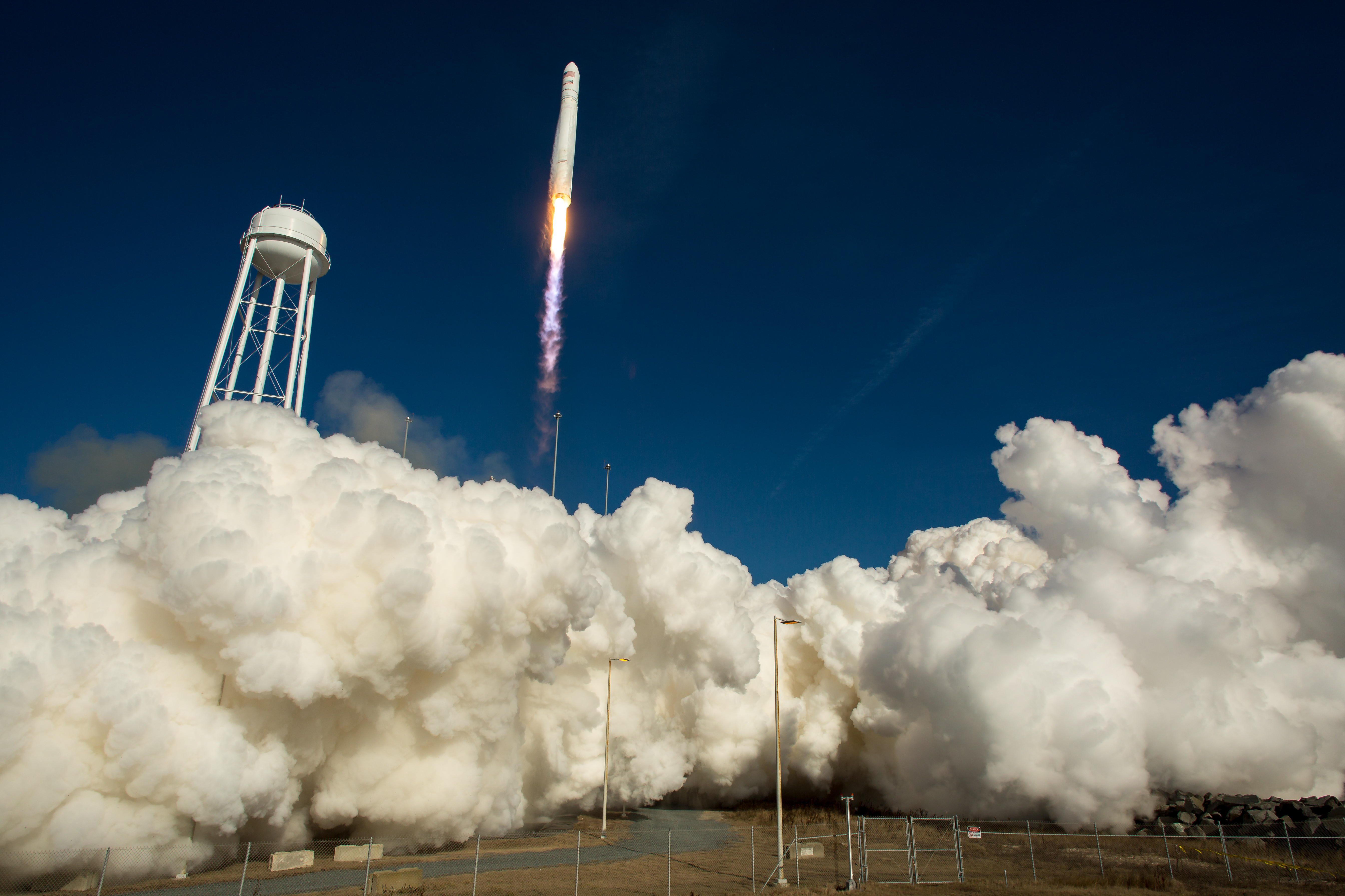 Antares Launches Orbital Sciences' Orb-1 Mission, Jan. 9, 2014