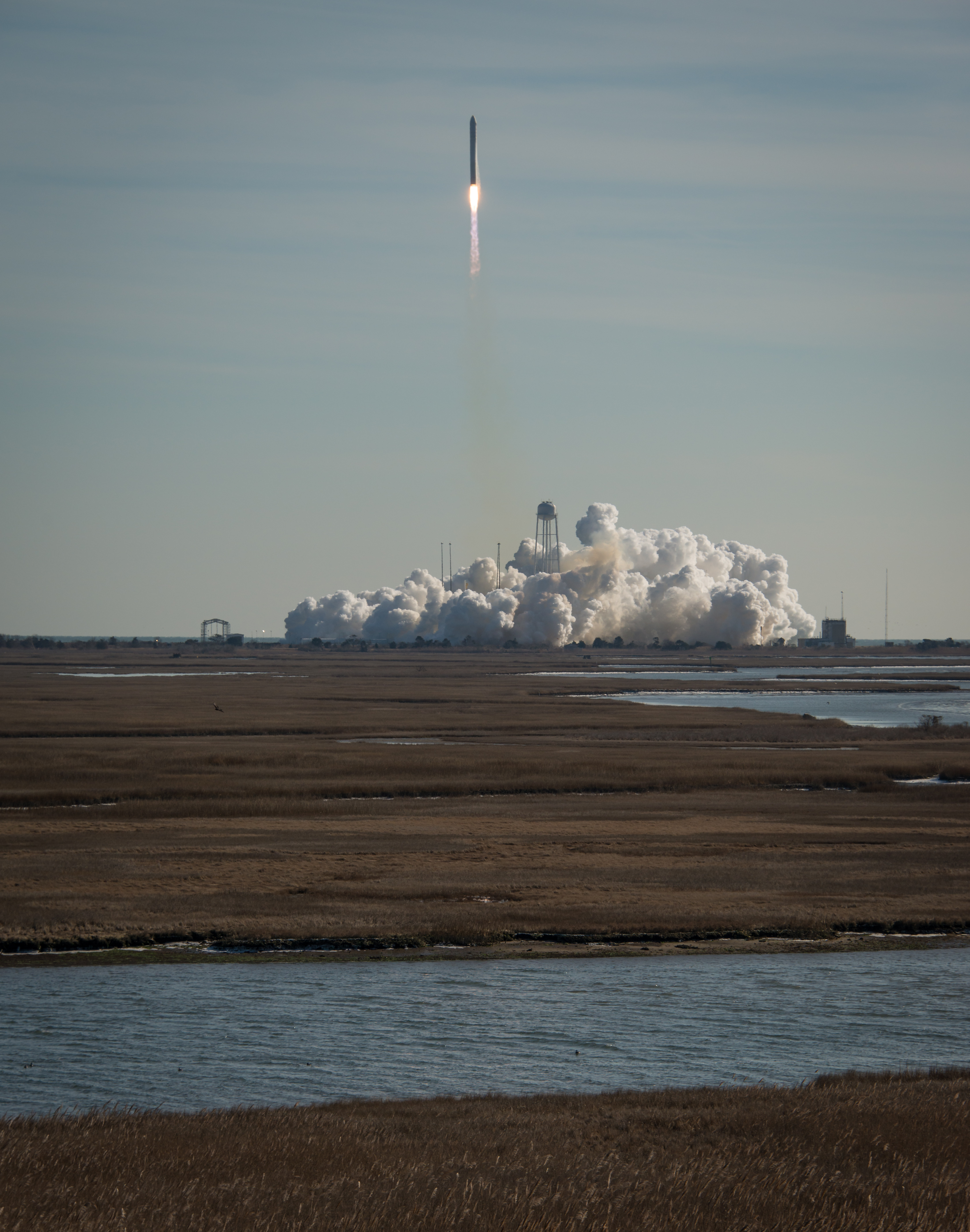 Antares Rocket Blasts Off With Orbital-1, Jan. 9, 2014