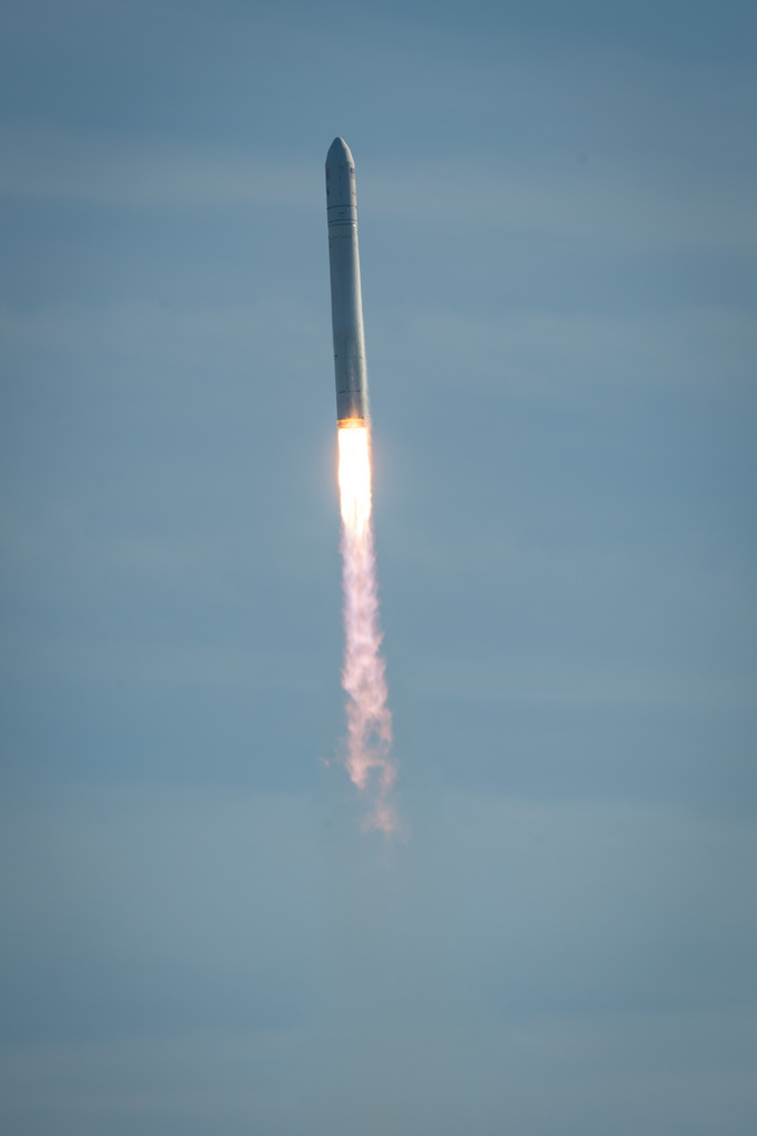 Antares Rocket Soars With Orb-1 Mission, Jan. 9, 2014