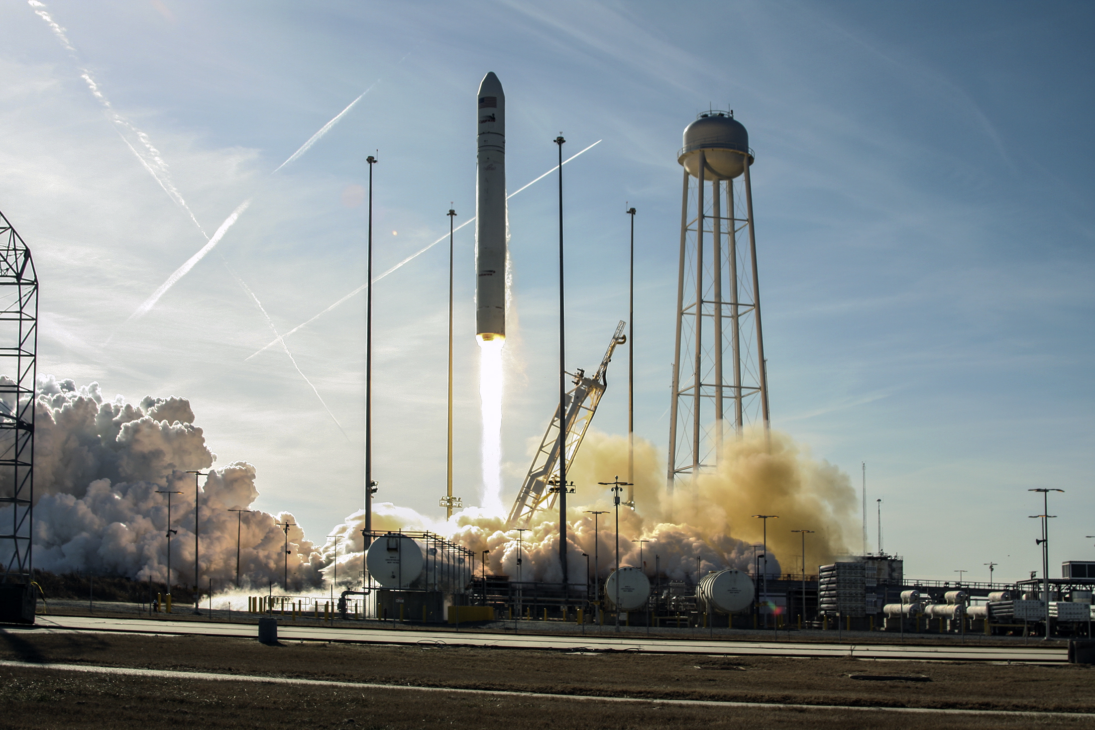 Antares Rocket Lifts Off from Wallops Flight Facility