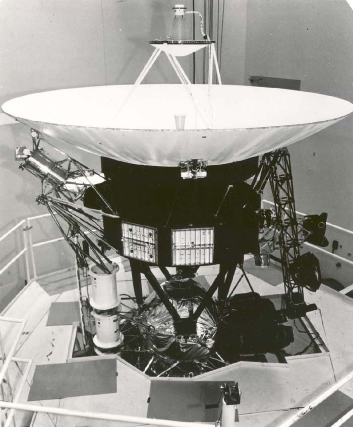 Space History Photo: Voyager Spacecraft During Vibration Testing