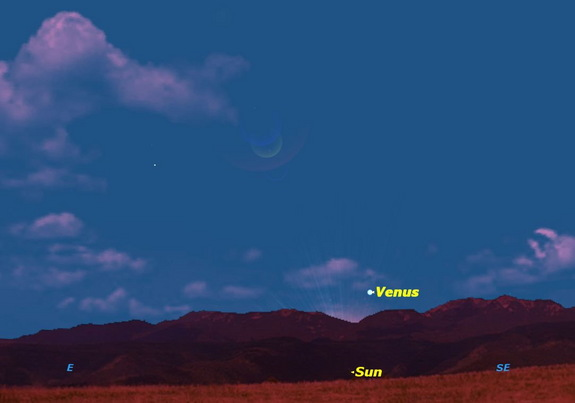 "A week later, at sunrise on Wednesday January 15, Venus has become a ""morning star"" and rises just before the sun."