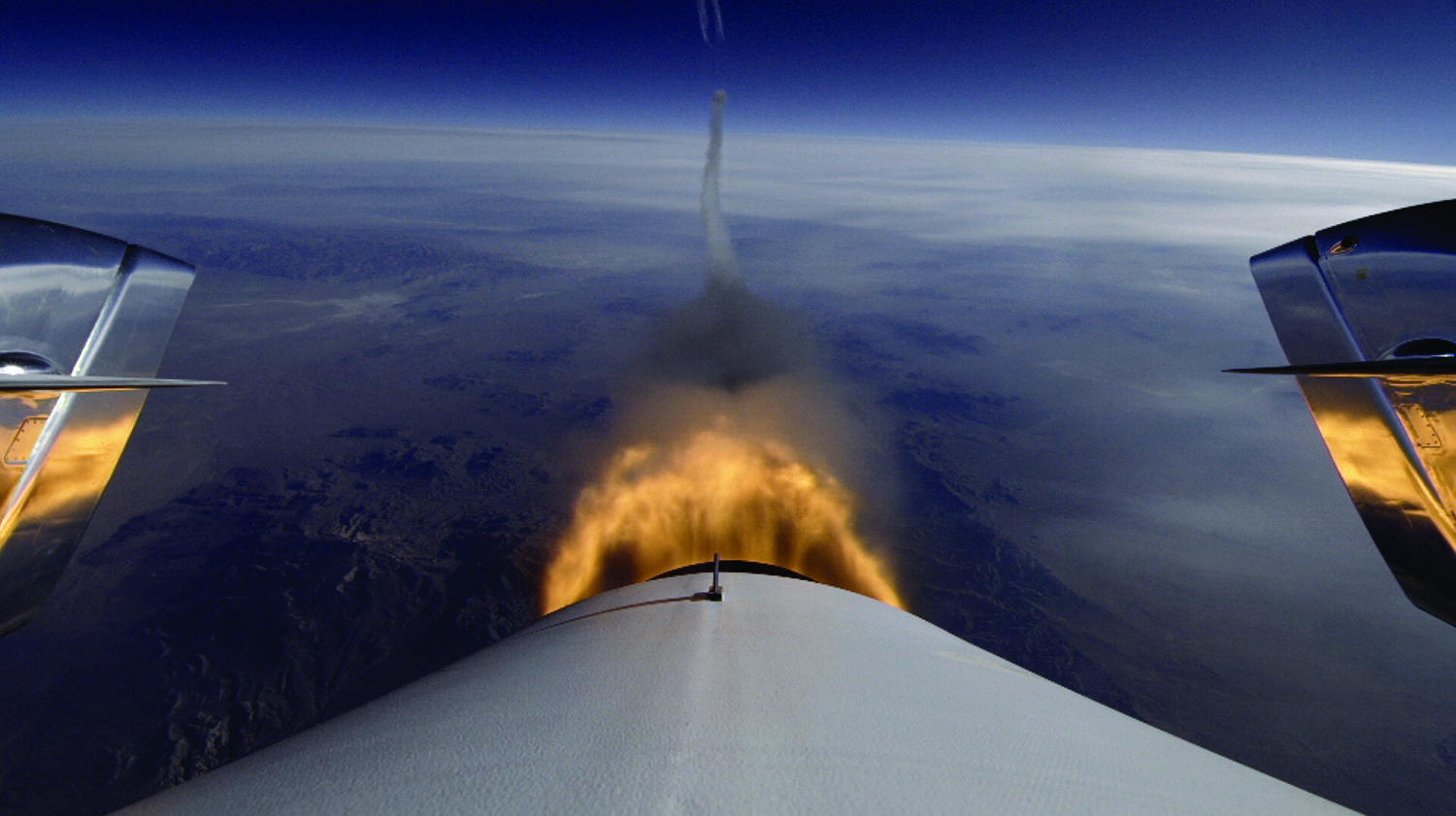 Virgin Galactic's SpaceShipTwo Aft View: Jan. 10, 2014