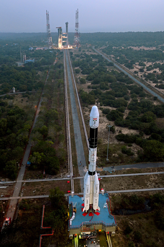 India's GSLV-D5 Rocket Moves to Launch Pad