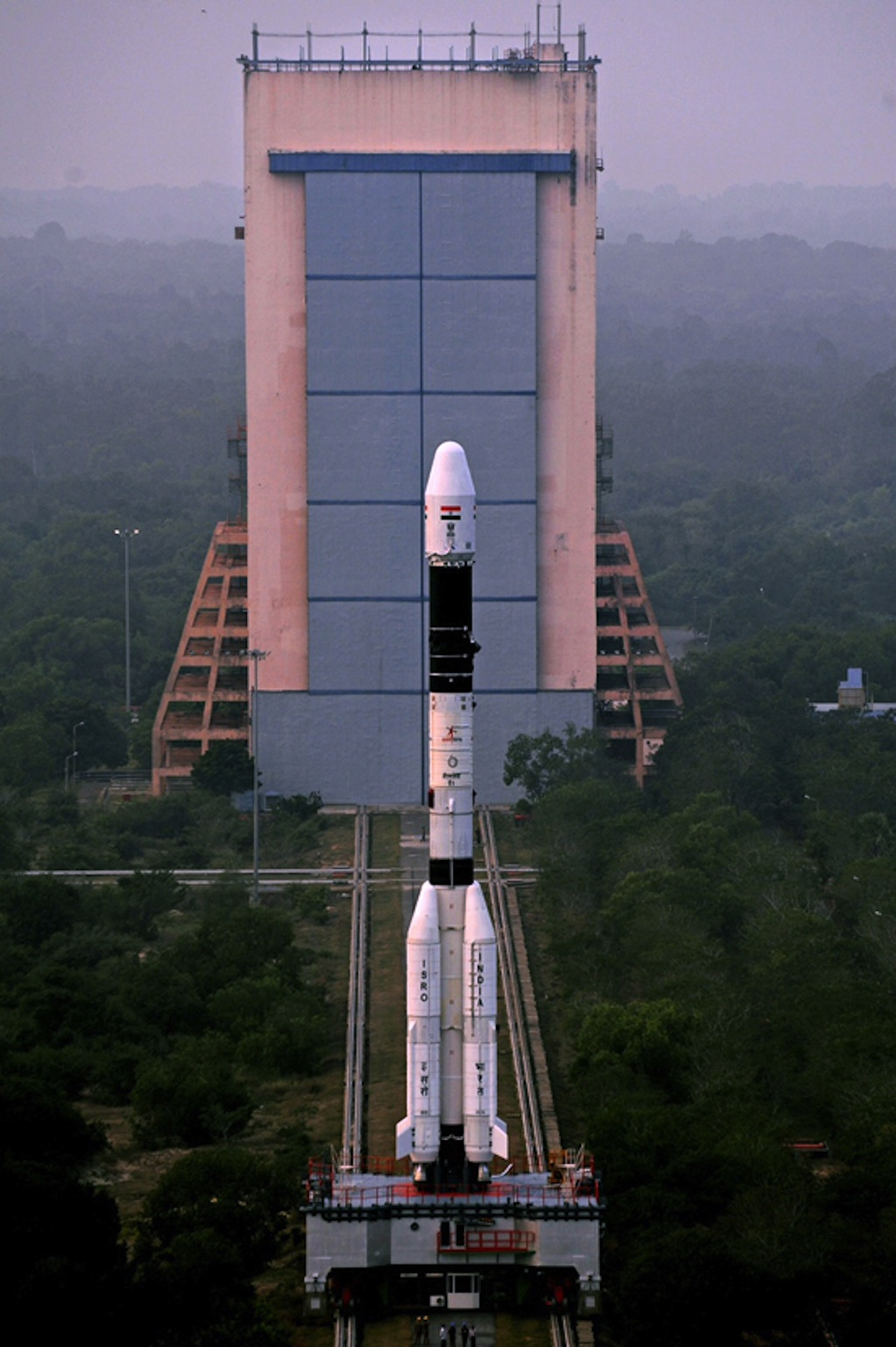 India's GSLV-D5 Rocket Rolls Out