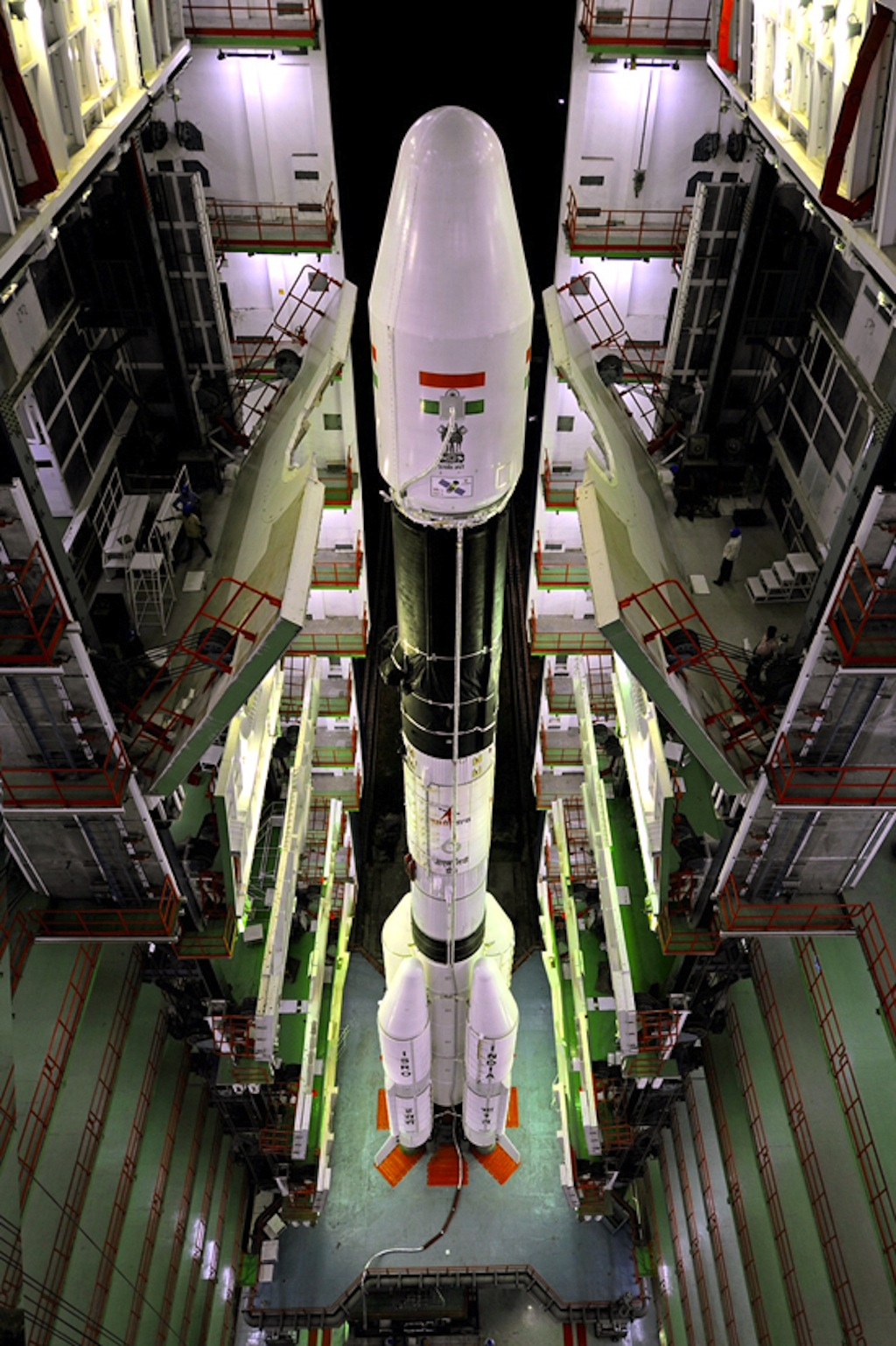 GSLV-D5 Rocket at Vehicle Assembly Building
