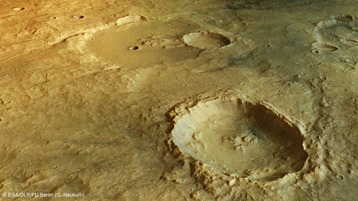Landslides in Crater of Tagus Valles on Mars