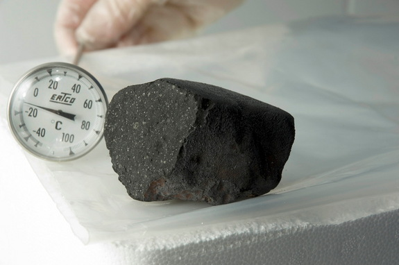 The Tagish Lake meteorite, which exploded over Canada in 2000, is considered by most scientists to be related to D-type asteroids found in the asteroid belt.