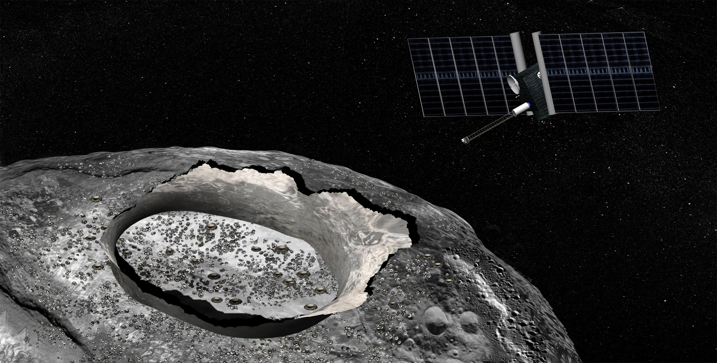 Giant Metallic Asteroid Psyche May Have Water