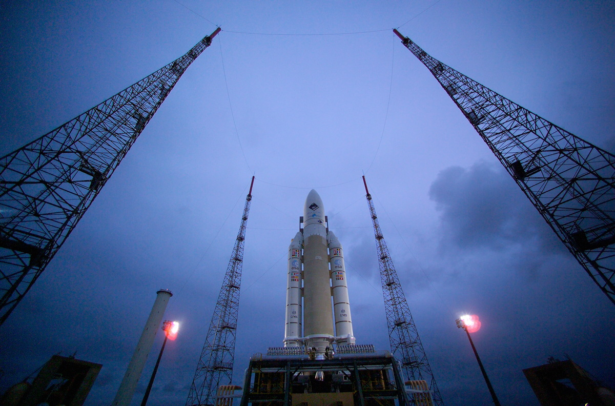 Ariane 5 Carrying Rosetta on the Pad