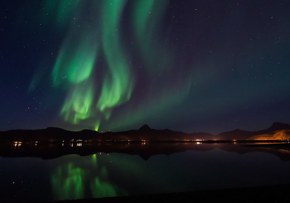 Auroras dance in the skies over Norway in a video from Level 4 production company. Image uploaded Jan. 15, 2014.