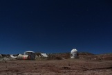 The observatory (right) is situated about 100 feet (30 meters) from the Mars Desert Research Station.